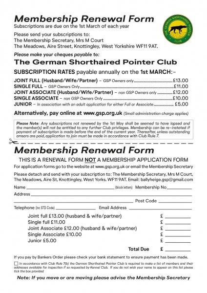 Renewal Form A5